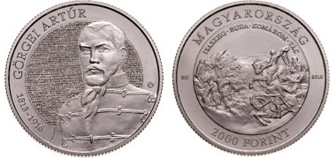 Görgei Artúr születésének 200. és az 1848-49 -es forradalom és szabadságharc 170. évfordulója - CuNi színesfém érme