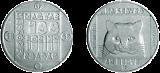 1985 TERMÉSZETVÉDELMI SOR - MACSKA - SZINESFÉM ÉRME