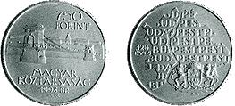 1998 PEST, BUDA ÉS ÓBUDA EGYESÍTÉSÉNEK 125. ÉVFORDULÓJA - EZÜSTÉRME