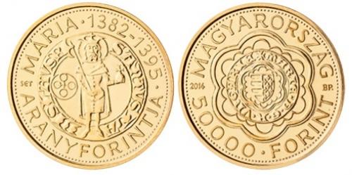 Mária (1382-1395) aranyforintja - aranyérme
