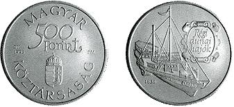 Régi dunai hajók - Árpád 1836 - ezüstérme