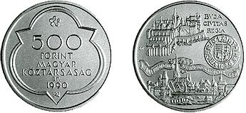 Mátyás király halálának 500. évfordulója - ezüstérme
