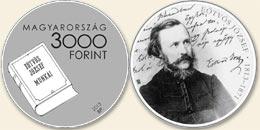 Eötvös József (1813-1871) - Ag (ezüstérme)