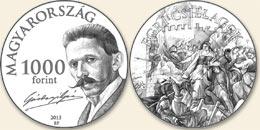 Gárdonyi Géza (1863-1922) - Cu-Ni (szinesfém érme)