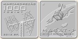 MASAT-1 - szinesfém érme