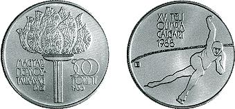 Téli Olimpiai Játékok - Calgary 1988 - ezüstérme