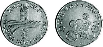 1996 ÖTVENÉVES A FORINT - EZÜSTÉRME