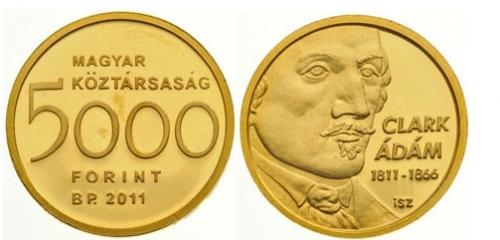 CLARK ÁDÁM (1811-1866) SZÜLETÉSÉNEK 200. ÉVFORDULÓJA - ARANYÉRME