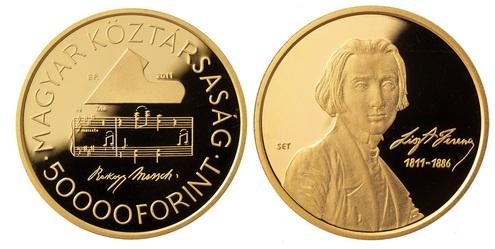 LISZT FERENC (1811-1886) SZÜLETÉSÉNEK 200. ÉVFORDULÓJA - ARANYÉRME