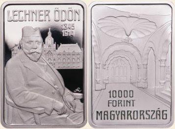 Lechner Ödön - ezüstérme