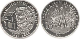 2011 200 ÉVE SZÜLETETT LISZT FERENC - EZÜSTÉRME